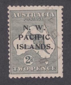 North West Pacific Islands Sc 29a used. 1918 2p gray 'Roo, light cancel