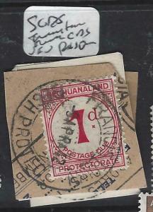 BECHUANALAND  (PP1904B)  POSTAGE DUE SG D5 FRANCISTOWN CDS PIECE  VFU