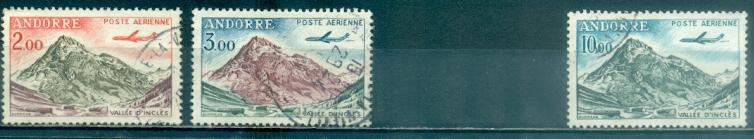 Andorra - French #C5//C8  Used  Scott $7.35