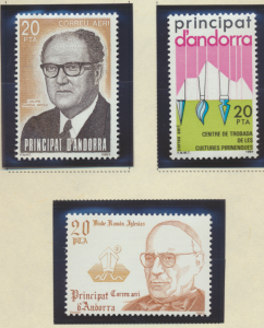 Andorra (Spanish Administration) Stamps Scott #C2 To C4, Mint Never Hinged - ...