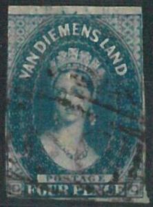 70222b - AUSTRALIA: Tasmania - STAMP: Stanley Gibbons # 17 or 18 -  Finely Used