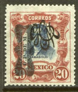 MEXICO 547, 20¢ Corbata & Carranza Rev overprints UNUSED, H OG. VF.