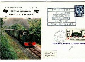 GB WALES RAILWAY *Vale of Rheidol*&*Tallyllyn* DEVILS BRIDGE BR Cover 1969 AA137