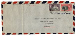 Trinidad 1948 72c Rate Airmail Postal History Cover to England WS24258