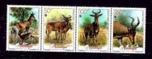 Mozambique 1145 MNH 1991 Animals strip of 4