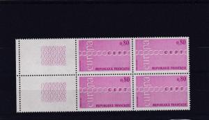 FRANCE  1971   S G  1926  80C   VALUE  BLOCK OF 4  MNH  NO F279