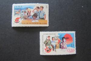 Cuba Sc 1389-1390 Scout Set MNH