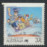 Australia SG 1121  SC# 1063  Used / FU  Imperf Top  Postal Services