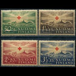 FINLAND 1939 - Scott# B35-8 Red Cross Set of 4 LH stain