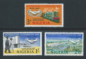 Nigeria #178-80 NH Int'l Co-Op Year Anniv.