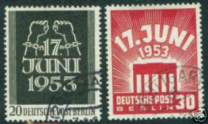 German Scott 9N99-100 CV Berlin 1953 set $30