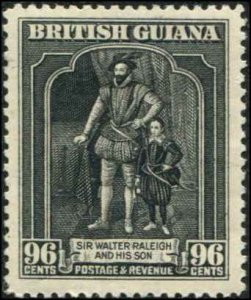 British Guiana SC# 221 Sir Walter Raleigh 96c MH