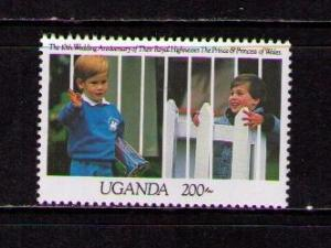 UGANDA Sc# 922 MNH FVF Princes William and Harry