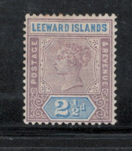 Leeward Islands 1890 Queen Victoria 2 1/2p Scott # 3 MH