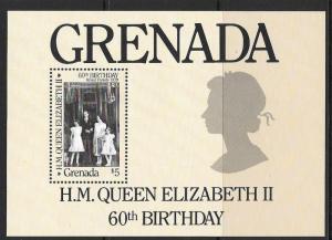 GRENADA SGMS1502 1986 60th BIRTHDAY OF QEII MNH