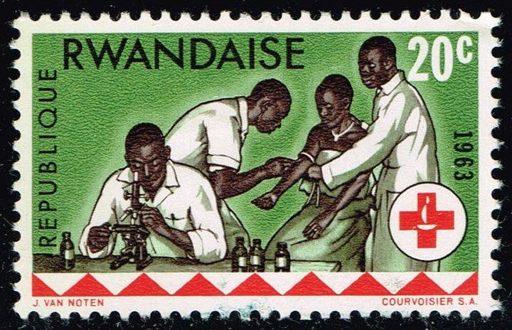 Rwanda #45 Laboratory Examination; Unused (0.25)