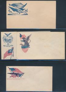 (4) DIFFERENT CIVIL WAR PATRIOTIC COVER BP1749