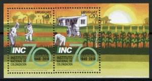 Uruguay Stamps 2018 MNH Ntl Institute of Colonization Agriculture Trees 2v M/S