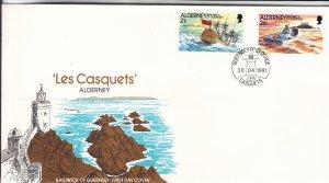 1991, Alderney: Les Casquets, FDC (S18820)