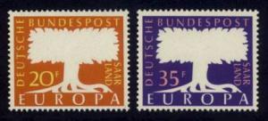 Saar Sc#  286-7 MNH Europa 1957