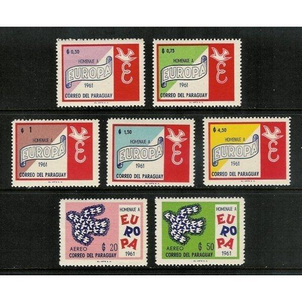 Paraguay 1961 Europa Stamps