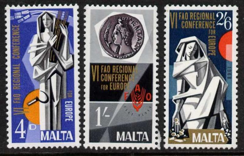 Malta 394-6 MNH Art, Sculpture, FAO