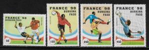 Burkina Faso #1074-7 MNH Set - World Cup Soccer