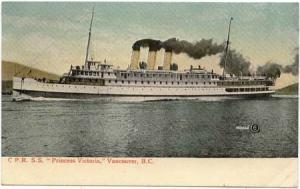 Canada  C.P.R. S.S. Princess Victoria Vancouver, B.C. Unused View Card.