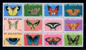 [SM238] St. Martin Maarten 2014 Insects Butterflies  MNH