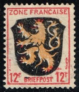 Germany #4N6 Coat of Arms - Palatinate District; Used (0.25)
