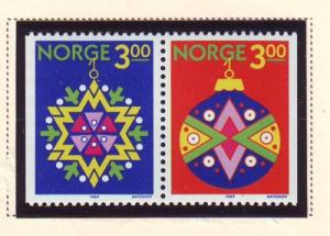 Norway Sc 952-3 1989 Christmas stamps NH