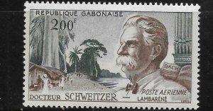Gabon 1960 Albert Schweitzer Sc C1 MNH A1628