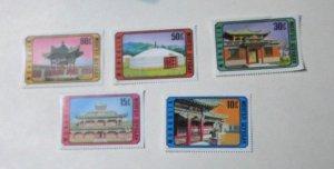 Mongolia - 802-06, MNH Set. Mongolian Architecture. SCV - $2.70
