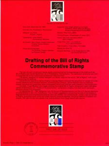 US SP860 Bill of Rights 2421 Souvenir Page FDC