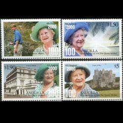 ANGUILLA 2000 - Scott# 1024-7 Queen Mother Set of 4 NH
