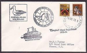 NEW ZEALAND CAMPBELL IS 1973 Lindblad Explorer ship cover..................35532