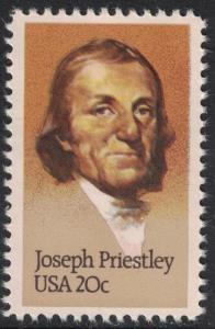 Scott 2038- Joseph Priestley, Discovered Oxygen- MNH 20c 1983- unused mint stamp