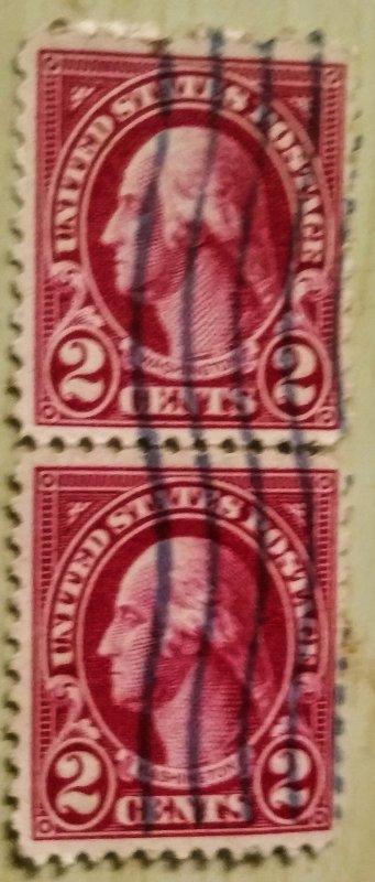 US 634Ab & b used pair F CV $800.00
