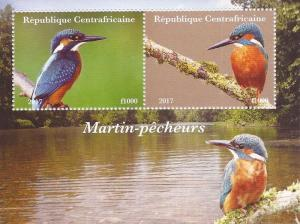 2017 Kingfisher Birds - 2 Stamp Souvenir Sheet - 3H-1031