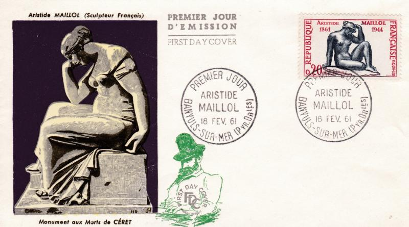 France 1961 100 year  Asrride Maillot Issue on Colorful First Day Cover ART VF