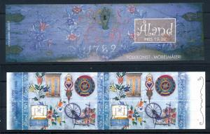 [58613] Aland 1999 Folk Art Spinning Wheel Booklet MNH