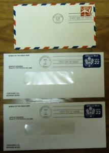 1st Day of Issue Stamp Envelopes Qty 6 Mint Air Mail