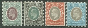 EAST AFRICA & UGANDA PROTECTORATES #5-8 MINT