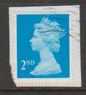 GB QE II Machin SG U2961 - 2nd brt blue - M14L - Source  B