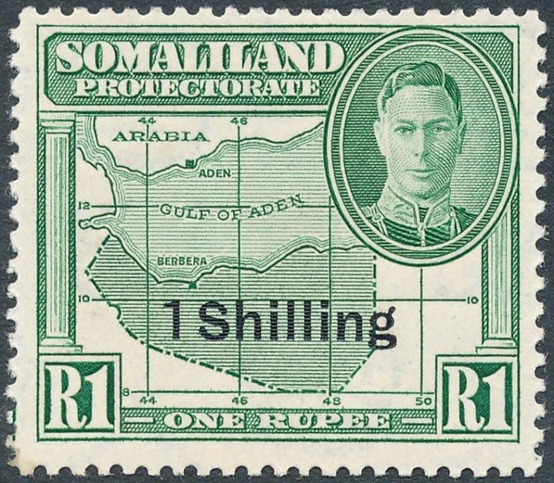 Somaliland Protectorate 1951 1s on 1r Green SG132 MNH