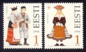 Estonia Sc# 276-7 MNH Folk Costumes 1994