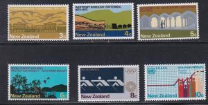 New Zealand # 511-516, Various Centennials, NH, 1/2 Cat.