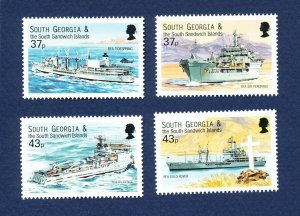 SOUTH GEORGIA - # 266-269; SG 324/7  - MNH -  Royal Navy Ships - 2001
