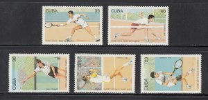 Cuba Scott #3478-3482 MNH