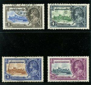 British Honduras 1935 KGV Silver Jubilee set complete VFU. SG 143-146.